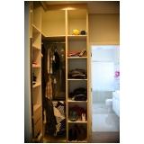 closet planejado para apartamento Chácara Belvedere