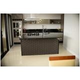 móveis planejados para cozinha pequena Fazenda Santa Paula
