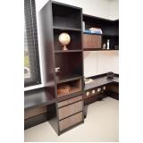 móveis planejados para escritório comercial valor Chácara Belvedere