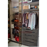 valor de closet planejado em vidro Chácara Belvedere